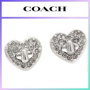 COACH Twinkling Hearts Stud Earrings